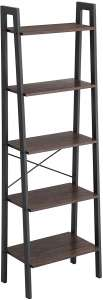 VASAGLE Industrial Ladder 5-Tier Bookshelf