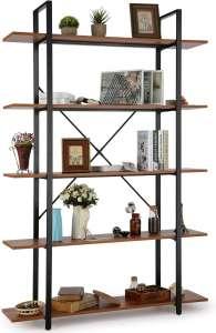 Himimi 5-Shelf Industrial Bookshelf