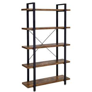 VASAGLE Bookcase 5 Layer Industrial Bookshelf