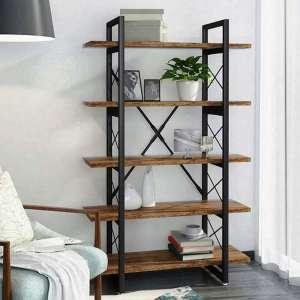 Wellrun Bookcase 5 Layer Industrial Bookshelf