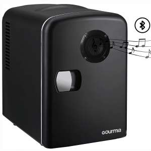Gourmia GMF668 Thermoelectric Mini Fridge Cooler and Warmer - With Bluetooth Speaker