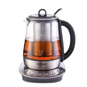 Buydeem K2423 Tea Maker, Removable Infuser, Black