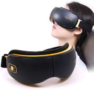 OSITO Rechargeable Eye Massager with Heat Christmas Massage Gift for Dry Eye with Vibration to Refresh Mind and Music Air Pressure for Fatigue Relief Improve Sleeping.