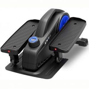 SereneLife Elliptical Under Desk Exercise Equipment - Compact Ergonomic Seated Under Desk Exercise Elliptical Machine Mini Exerciser w 8 Resistance Level, LCD Monitor