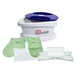 Waxwel Paraffin Wax Bath Unit w Lavender Kit- Includes 6 lb Lavender Wax, 100 Liners, 1 Mitt, 1 Bootie