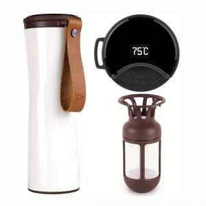 KISS KISS FISH Travel Mug, Smart Coffee Mug with OLED Temperature Display
