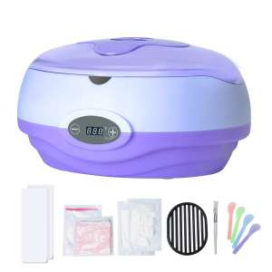 Paraffin Wax Machine for Hand and Feet, Kolem Paraffin Wax Bath, Quick Heating Paraffin Machine, Skin Moisturizing Machine Kits with 2lb. Paraffin Wax, Thermal Mitts, Gloves Liners, Purple
