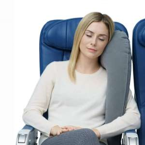 Travelrest Ultimate Travel Pillow & Neck Pillow - Straps to Airplane Seat & Car