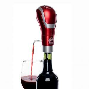 WAERATOR WA-A01-RD Instant 1-Button Electric Aeration and Decanter Wine Pourers, Red
