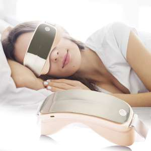Royal Seal's Electric Heated Sonic Vibration Eye Massager for Anti-aging, Anti-wrinkles, Eliminating Dark Circles, Puffy Eyes, Dry Eyes, Eye Fatigue and Eye Bags Ivory