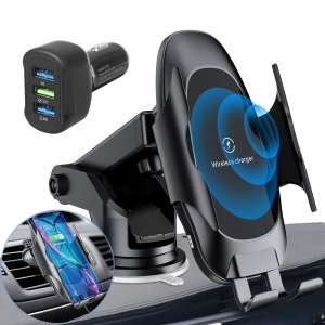Homder Automatic Clamping Wireless Car Charger Mount,10W 7.5W Qi Fast Car Charging