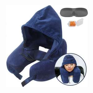 Neck Pillow Inflatable Travel Pillow Comfortably Supports The Head, Neck and Chin