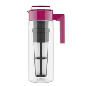Takeya Iced Tea Maker with Patented Chill Technology, Raspberry