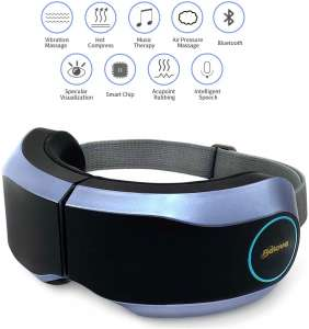 Belovedone Eye Massager with Heating Air Pressure, Bluetooth, Music Vibration, Rechargeable Foldable Eye Therapy Visual Massager