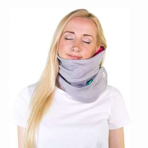 trtl Pillow Plus, Travel Pillow - Fully Adjustable Neck Pillow for Airplane Travel