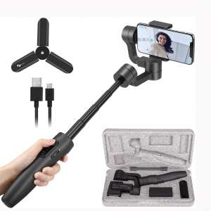 Feiyu Vimble 2 Smartphones Gimbal Stabilizer, 3-Axis Handheld Gimbal for iPhone Xs Max Xr Android Smartphone(Gray)