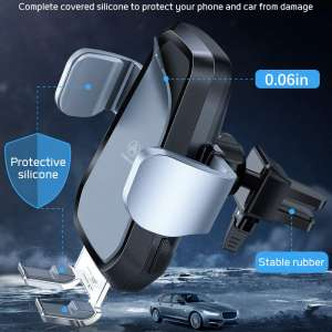 VANMASS Qi Wireless Car Charger Mount, Automatic Clamping, 10W Fast Charging