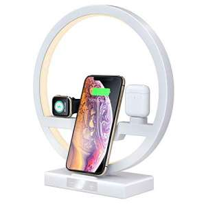 Wireless Charger Stand Lamp, JODNO 30W Cell Phone Charging Stations