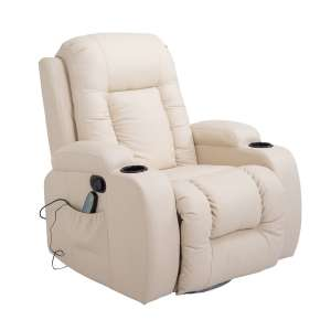HomCom Heated Vibration Massage Recliner Chair