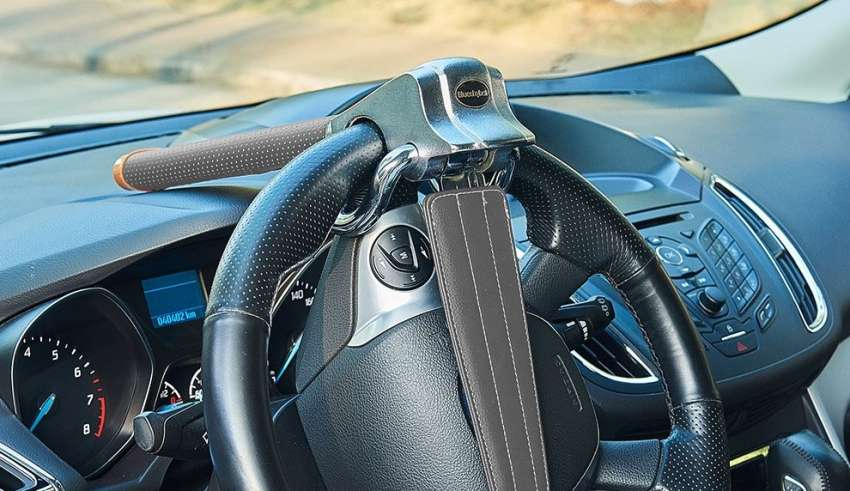 Universal T Shape Anti-Theft Car Auto Security Protection Steering Wheel Lock