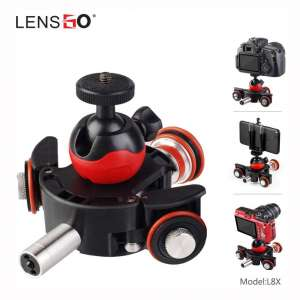 LENSGO Camera Autodolly Electric Track Slider Motorized Camera Cine Dollies Pulley Car Rolling Skater with 6 Speeds Wireless Remote