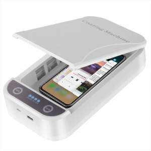 UV Smartphone Sanitizer USB Charging Universal Charger Double Antibacterial Sterilizer Cleaner for Makeup Tools