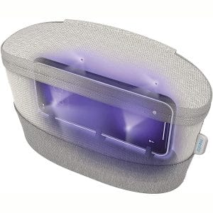 HoMedics UV Clean Sanitizer Bag Portable UV Light Sanitizer, Fast Germ Sanitizer for Cell Phone, Makeup Tools, Credit Card, Keys, Glasses