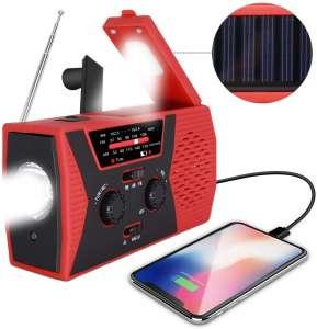 RegeMoudal Solar Hand Crank Portable Radio