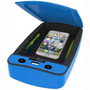 Smartphone Sanitizer Box, UV Light USB Charging Cell Phone Cleaner Aromatherapy Disinfector for Masks Toothbrush Makeup Tool Glasses Jewelry