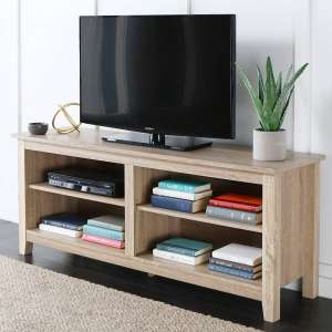 We Furniture Minimal Farmhouse Wood Universal Stand for TVs