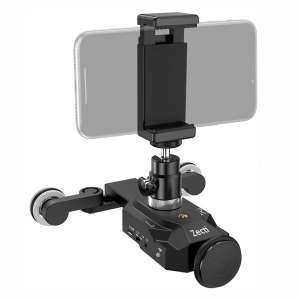 Zecti Camera Slider Dolly Rolling Slider Dolly Car Skater Video Track Remote Control 10 Speed Weight Up to 6kg Adjustable Chargeable Mini Slider