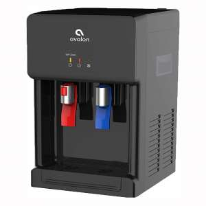 Avalon Countertop Self Cleaning Bottleless Water Cooler Water Dispenser - Hot & Cold Water, NSF Certified Filter- UL:Energy Star Approved- Black