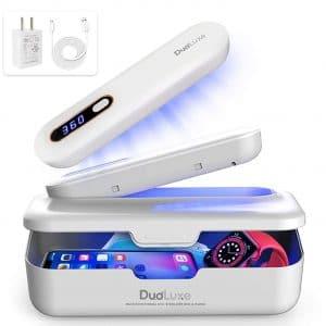 DuoLuxe UV Light Sanitizer - UV Light Sanitizer Wand - All in One UV Sterilizer, Phone Sanitizer - Kills 99.9% of Bacteria & Viruses - Portable, Rechargeable UVC Sanitizer