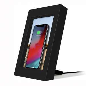 Twelve South PowerPic | Picture Frame Stand with Integrated 10W Qi Charger