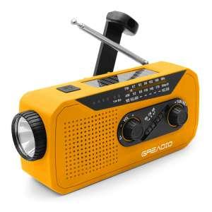 Greadio Emergency Weather AM/FM NOAA Solar Crank Radio