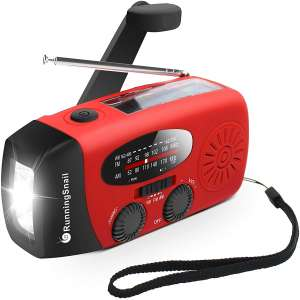 RunningSnail Emergency Weather AM FM NOAA Solar Crank Radio