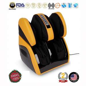 Christmas -$100 I VITALZEN Plus® Massager for feet, Calves,Legs,Knees and Thighs – Yellow (2019 Model) - Compression