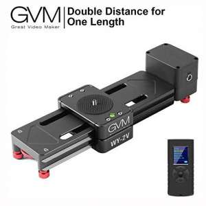 GVM Motorized Camera Slider Mini Size Track Rail Provides 6.5 inch can be Retract and Extend to 13 inch Length