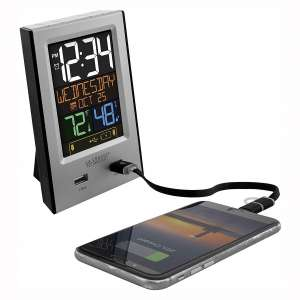 La Crosse Technology 617-1614 USB Charging Station with Alarms & Nap Timer