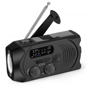 Givoust Emergency Weather Radio Solar Crank Radio