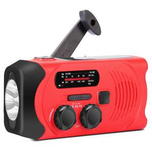 Givoust Emergency Weather Radio Solar Crank Radio