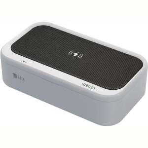 LEXONIX 15W UV Wireless Charger Phone UV Sanitizer Box, UV Light Sterilizer Box 3 in 1 QI Wireless Charging Station