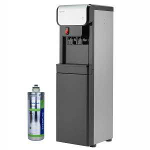 Aquverse A6500-K Hot:Cold Bottleless Water Cooler with Filter and Install Kit, Stainless Black