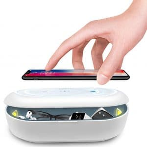 Cahot UV Light Sanitizer Box, Portable Phone UVC Light Sanitizer, UV Sterilizer Box with Aroma Diffuser, Fast Charging for Smart Phone