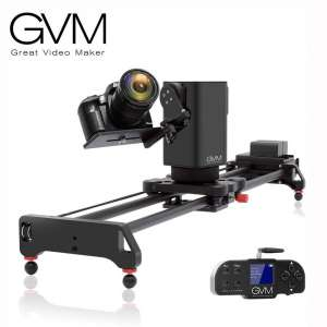GVM Motorized Camera Slider Track Dolly for DSLR Camera Slider with 3- Axis for Multi-Targets Switching