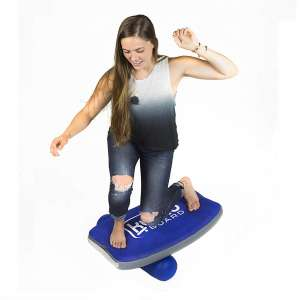 KUMO Inflatable Balance Board with Roller - Improves Balance and Strength