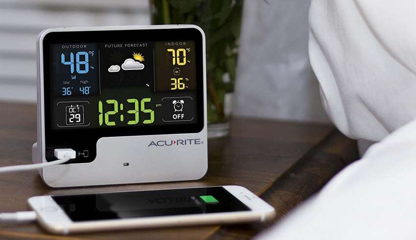 image feature Weather Station With Usb Charging