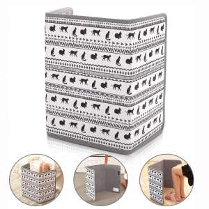 Space Heater, Foldable Foot Warmer Portable Panel Heater with Tip-Over 45°Angle Auto-Off & Overheat Protection, Adjustable Thermostat