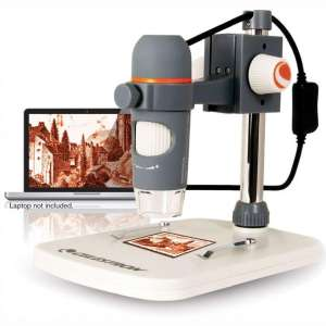 Celestron - 5 MP Digital Microscope Pro - Handheld USB Microscope Compatible with Windows PC and Mac - 20x-200x Magnification - Perfect for Stamp Collecting, Coin Collecting