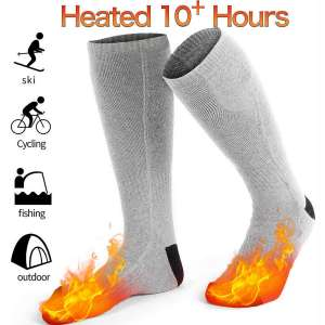 GREATSSLY Heated Socks, Foot Warmers for Men & Women, 10 Hours Continuous Heating, Rechargeable Battery Operated, Electric Heating Socks